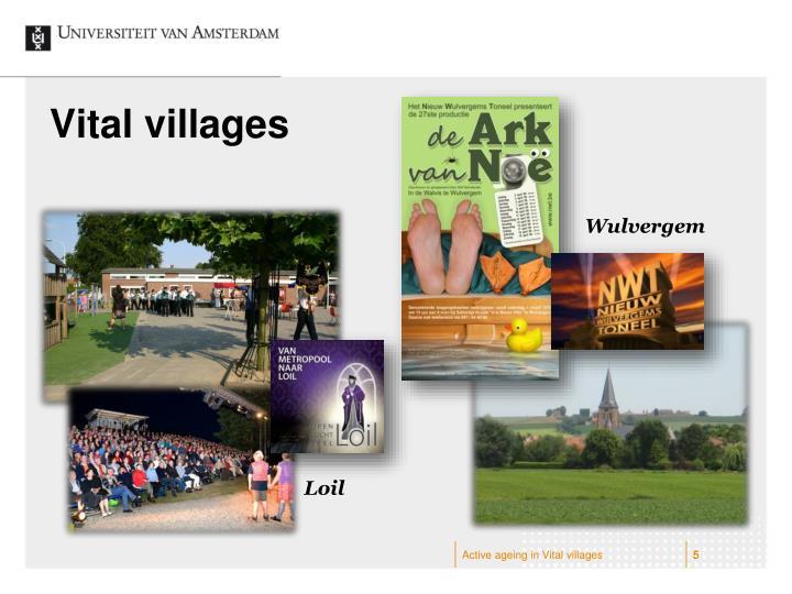 Vital villages