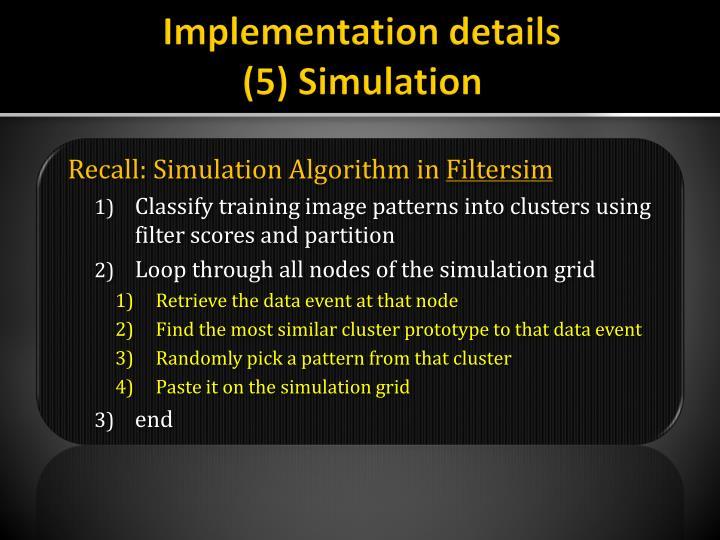 Implementation details