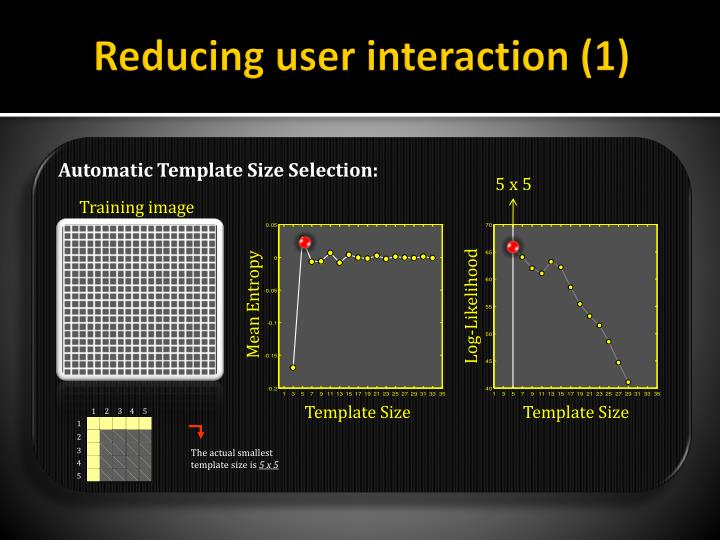 Reducing user interaction (1)