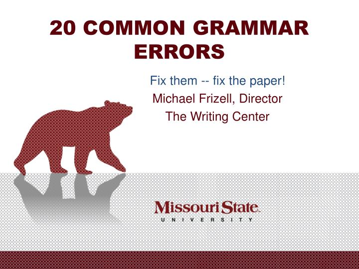 20 common grammar errors
