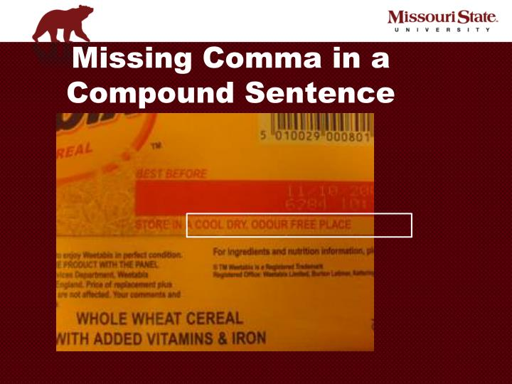 Missing Comma in a Compound Sentence