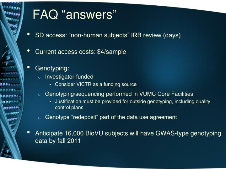 "FAQ ""answers"""