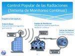 control popular de las radiaciones sistema de monitoreo continuo
