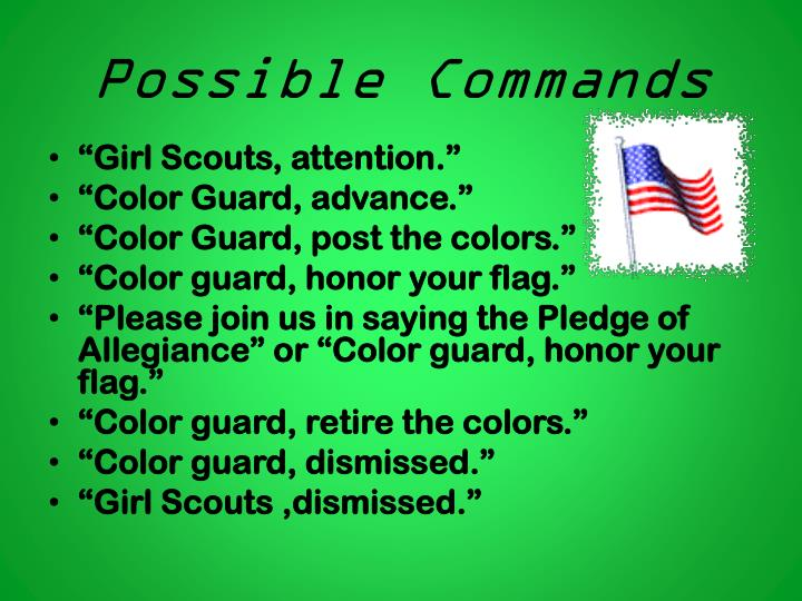 Possible Commands