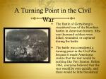 a turning point in the civil war