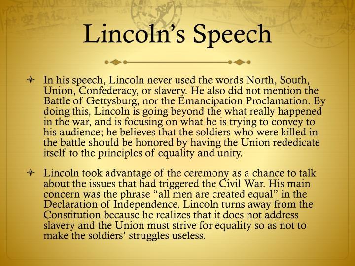 Lincoln's Speech