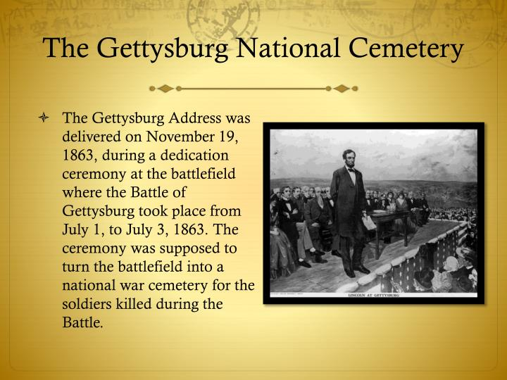 The gettysburg national cemetery