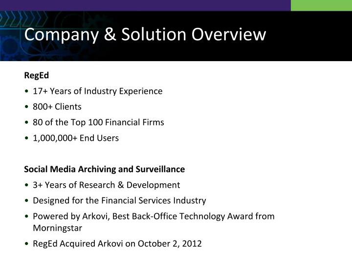 Company & Solution Overview