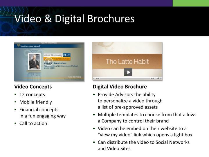 Video & Digital Brochures