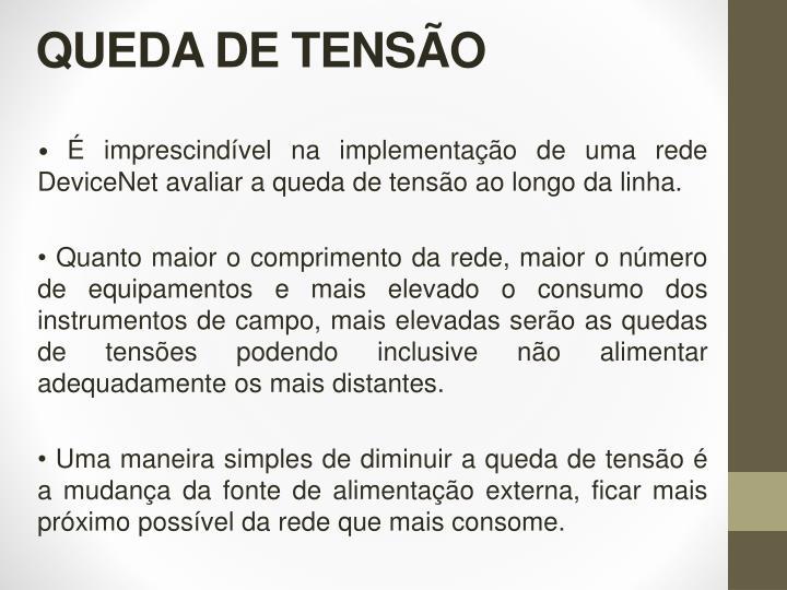 QUEDA DE TENSÃO