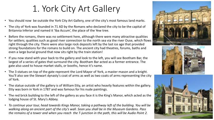 1. York City Art Gallery