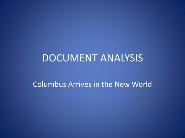 Document analysis