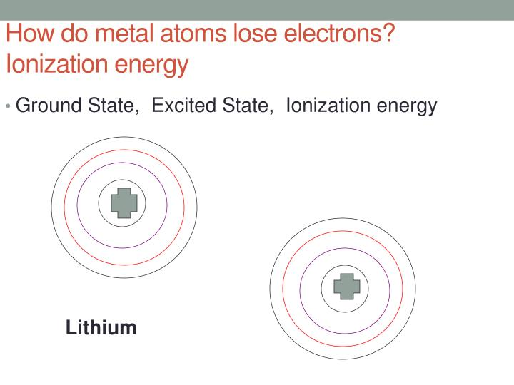 How do metal atoms lose electrons?  Ionization energy
