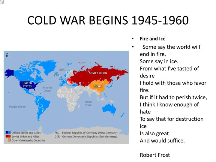 Cold war begins 1945 1960