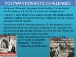 postwar domestic challenges