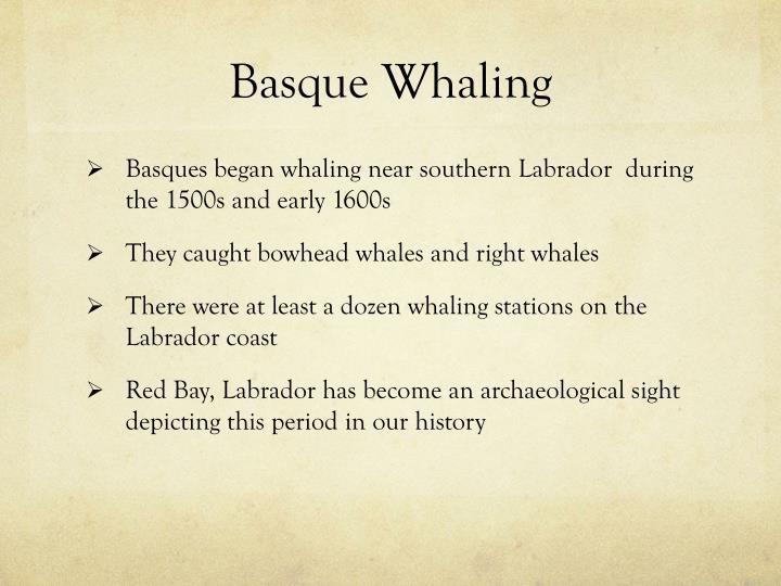 Basque Whaling