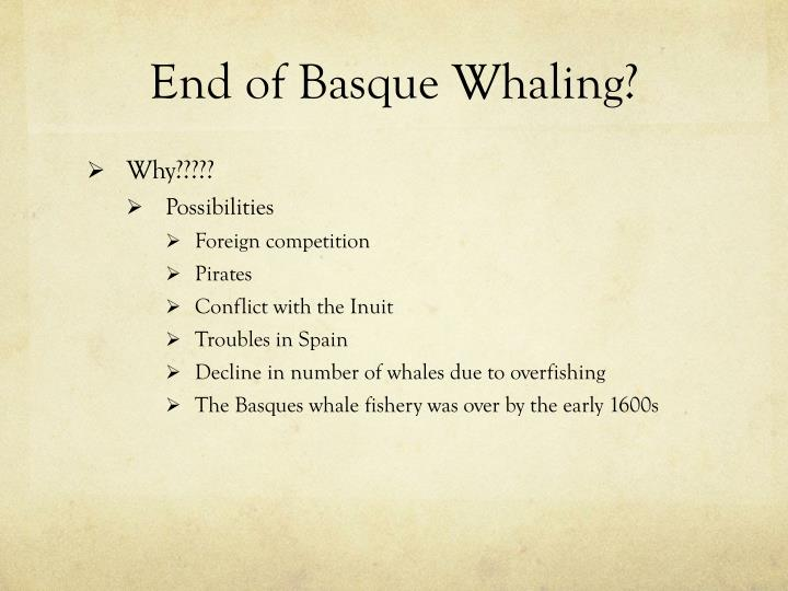 End of Basque Whaling?