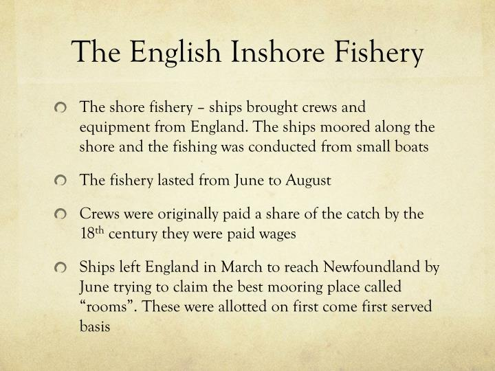 The English Inshore Fishery