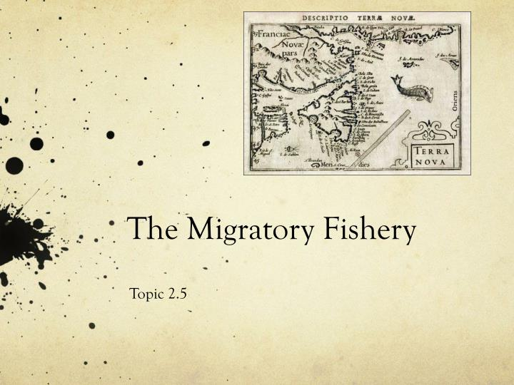 The migratory fishery
