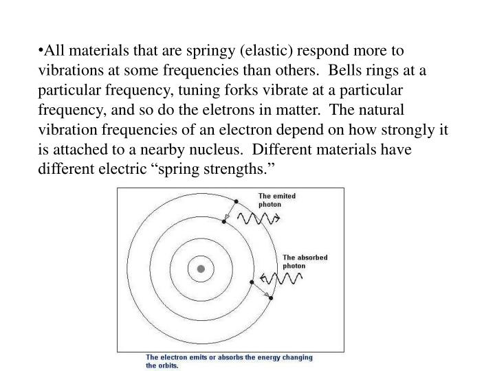 All materials that are springy (elastic) respond more to vibrations at some frequencies than others.  Bells rings at a particular frequency, tuning forks vibrate at a particular frequency, and so do the
