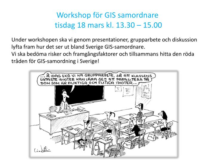 Workshop för GIS