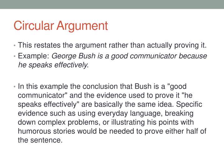 Circular Argument