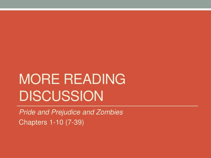 More Reading Discussion