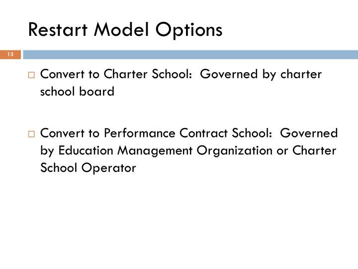 Restart Model Options