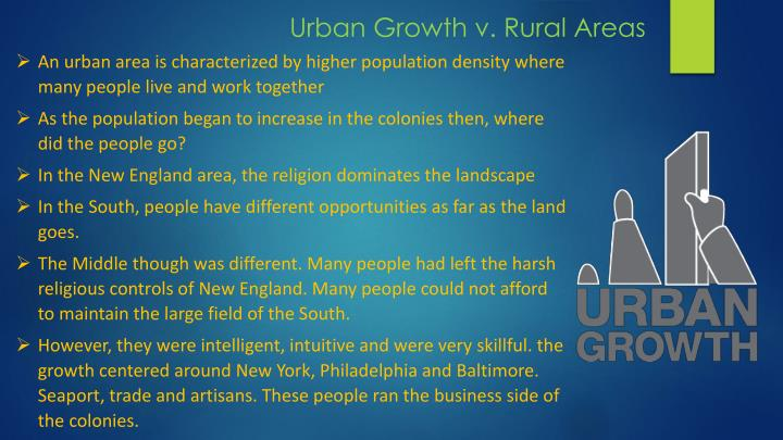 Urban Growth v. Rural Areas