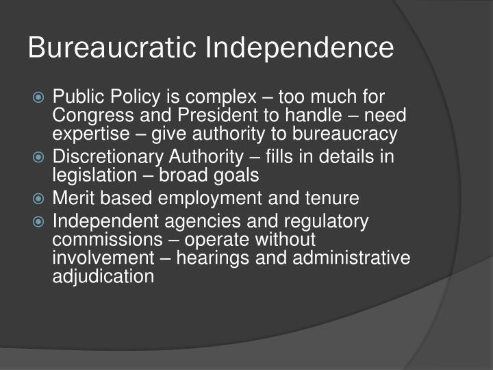 Bureaucratic Independence