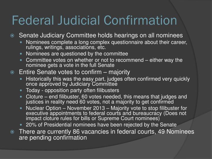 Federal Judicial Confirmation