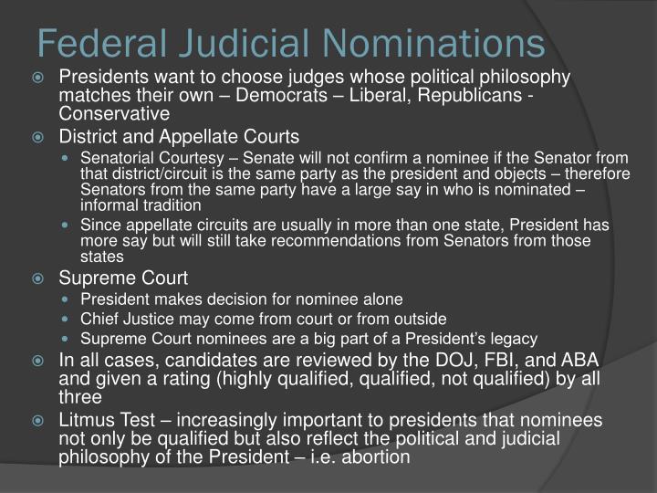 Federal Judicial Nominations
