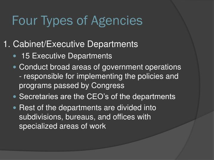 Four Types of Agencies