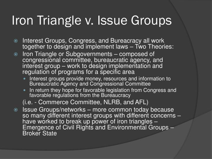Iron Triangle v. Issue Groups