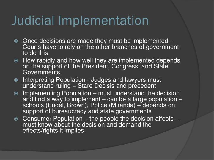 Judicial Implementation