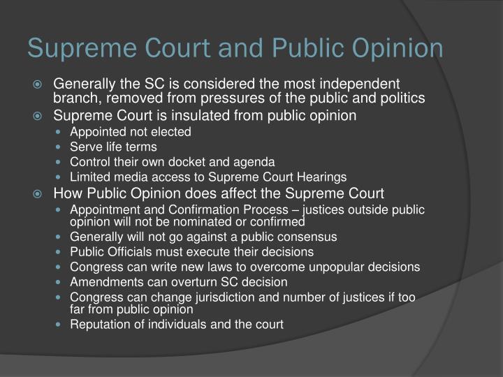 Supreme Court and Public Opinion