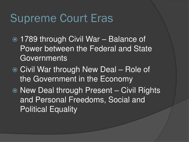 Supreme Court Eras