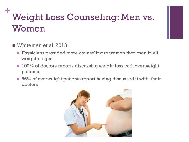 Weight Loss Counseling: Men vs. Women