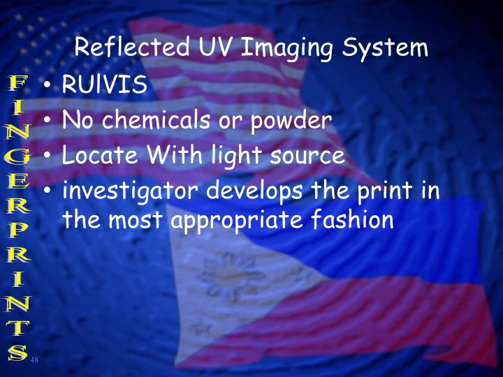 Reflected UV Imaging System