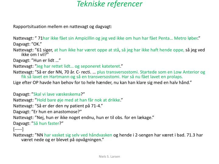 Tekniske referencer