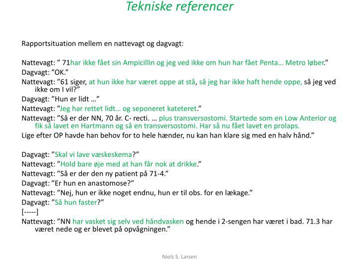 Tekniske referencer