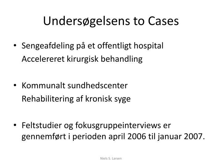 Undersøgelsens to Cases