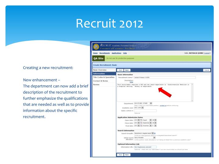Recruit 2012