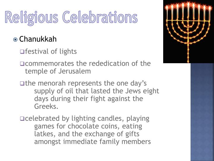Religious Celebrations