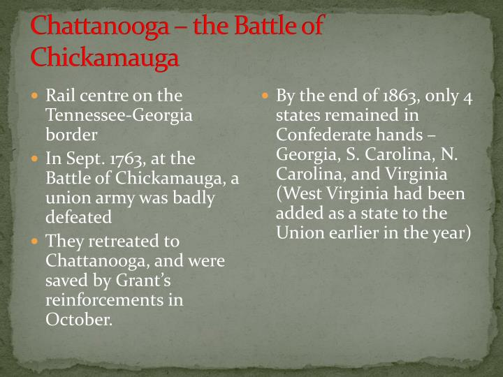 Chattanooga – the Battle of Chickamauga