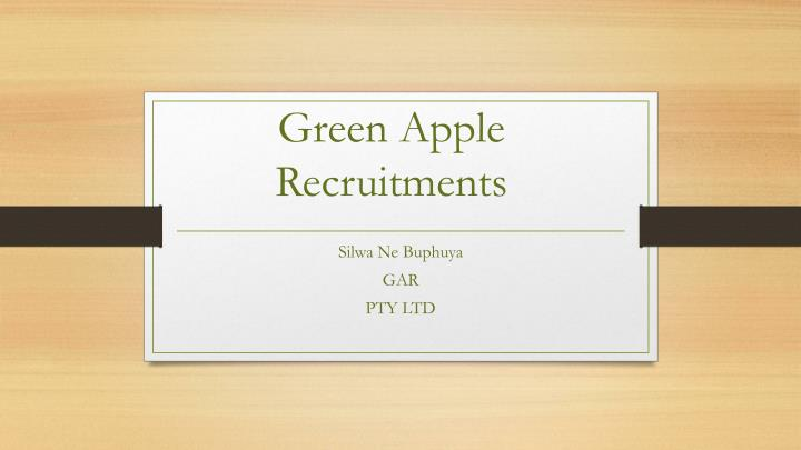 Green apple recruitments