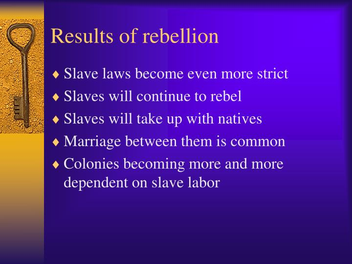 Results of rebellion