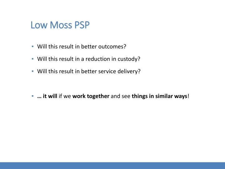 Low Moss PSP