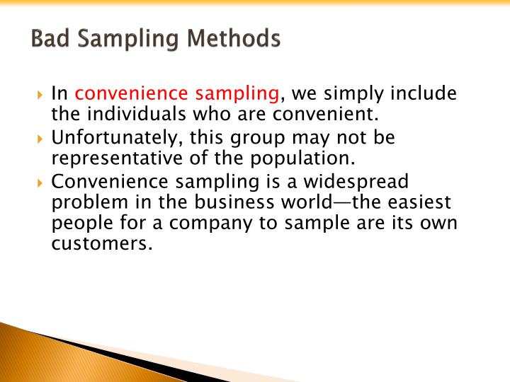 Bad Sampling Methods