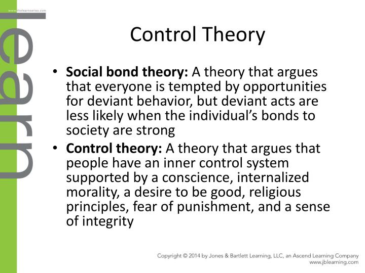 criminal control theory Theories of crime and delinquency (chapters 6-7) two major types of theories of crime  crime control model – conservative.